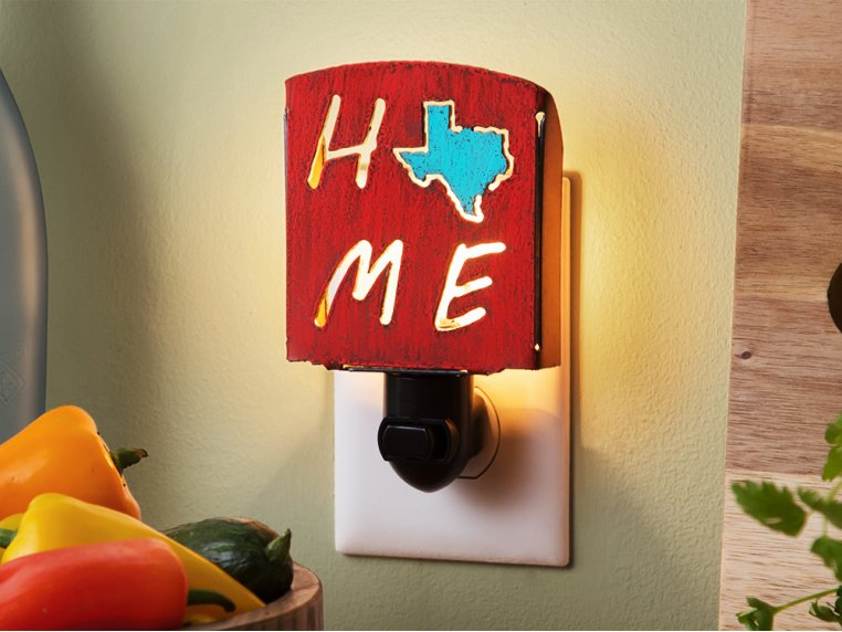 Reclaimed Metal Home State Night Light by Whimsies - 1