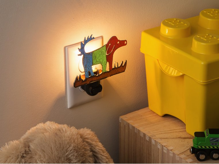 Reclaimed Metal Animal Night Light by Whimsies - 2