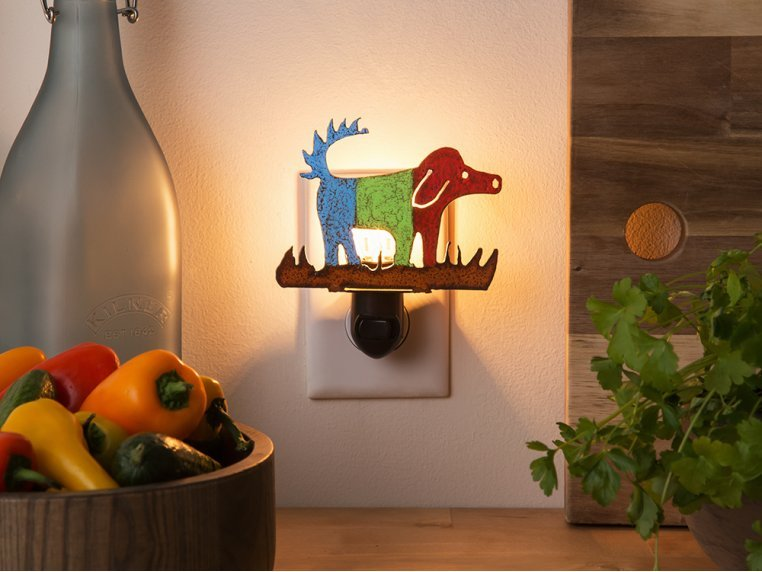Reclaimed Metal Animal Night Light by Whimsies - 3