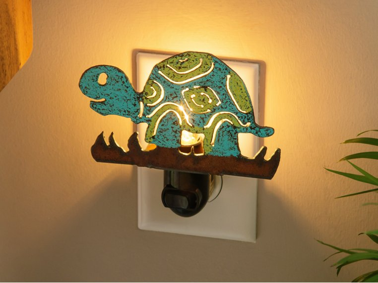 Reclaimed Metal Animal Night Light by Whimsies - 1