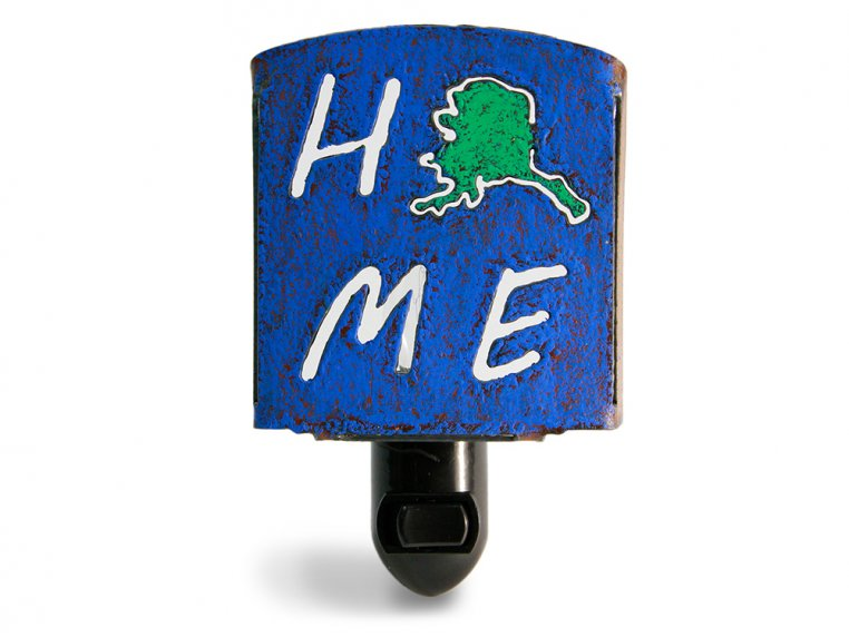 Reclaimed Metal Home State Night Light by Whimsies - 5