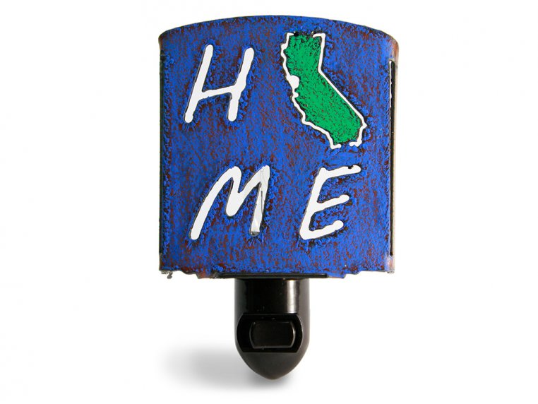 Reclaimed Metal Home State Night Light by Whimsies - 8