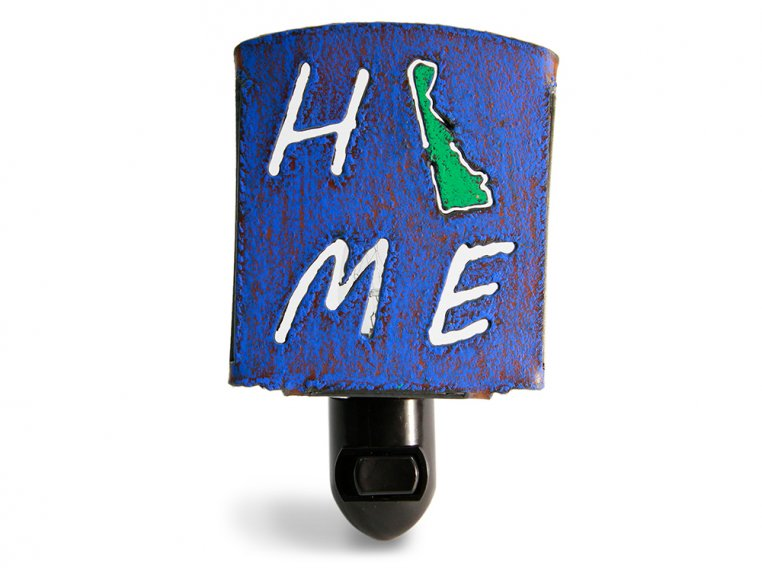 Reclaimed Metal Home State Night Light by Whimsies - 11