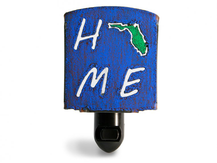 Reclaimed Metal Home State Night Light by Whimsies - 12