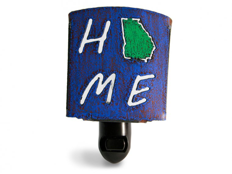Reclaimed Metal Home State Night Light by Whimsies - 13