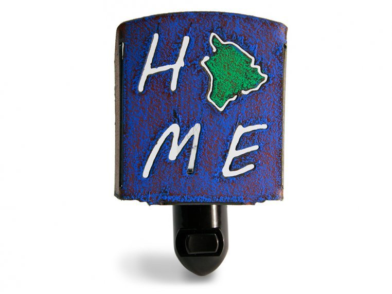 Reclaimed Metal Home State Night Light by Whimsies - 14