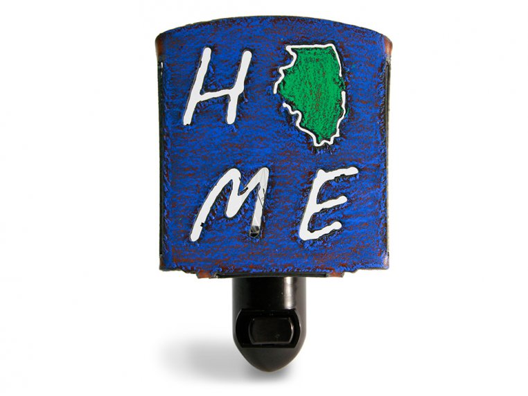 Reclaimed Metal Home State Night Light by Whimsies - 16
