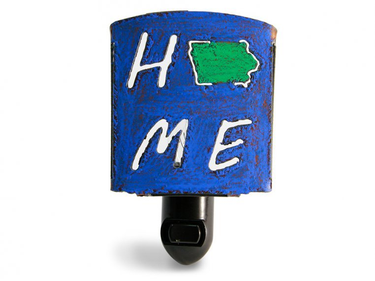 Reclaimed Metal Home State Night Light by Whimsies - 18