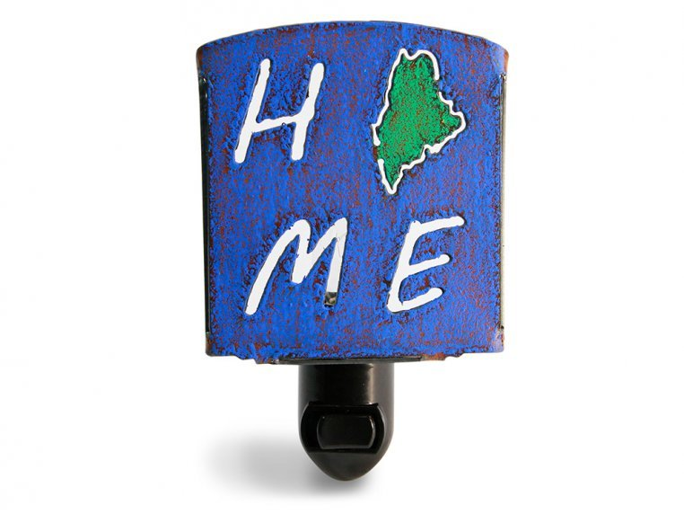 Reclaimed Metal Home State Night Light by Whimsies - 22