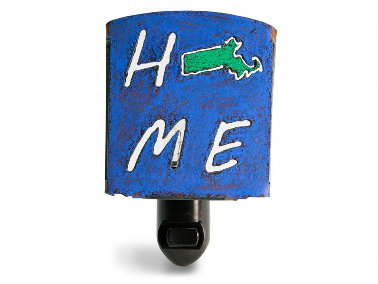 Reclaimed Metal Home State Night Light by Whimsies - 24