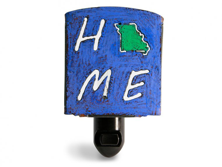 Reclaimed Metal Home State Night Light by Whimsies - 28