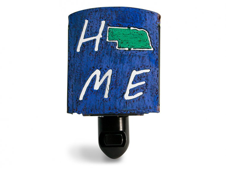 Reclaimed Metal Home State Night Light by Whimsies - 30