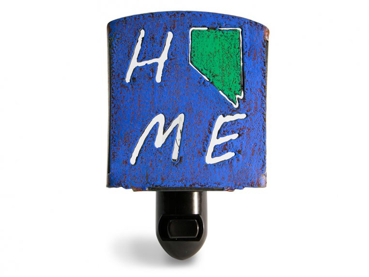 Reclaimed Metal Home State Night Light by Whimsies - 31
