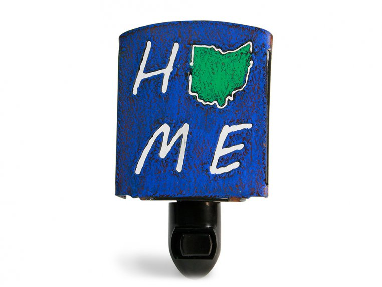 Reclaimed Metal Home State Night Light by Whimsies - 38