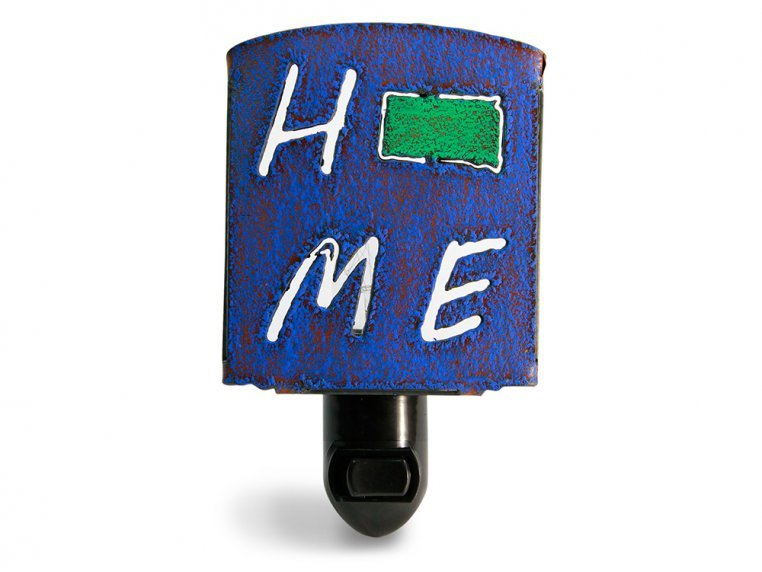 Reclaimed Metal Home State Night Light by Whimsies - 44