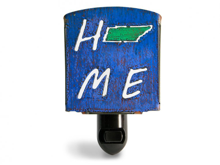 Reclaimed Metal Home State Night Light by Whimsies - 45
