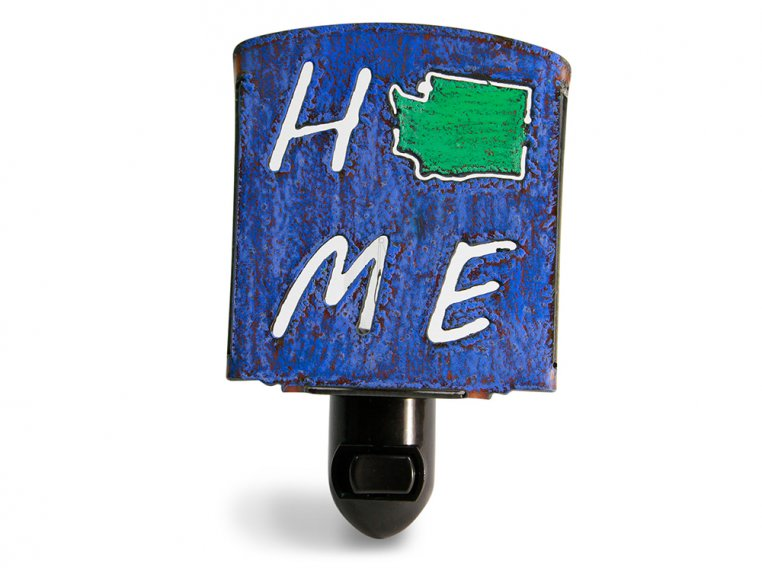 Reclaimed Metal Home State Night Light by Whimsies - 50