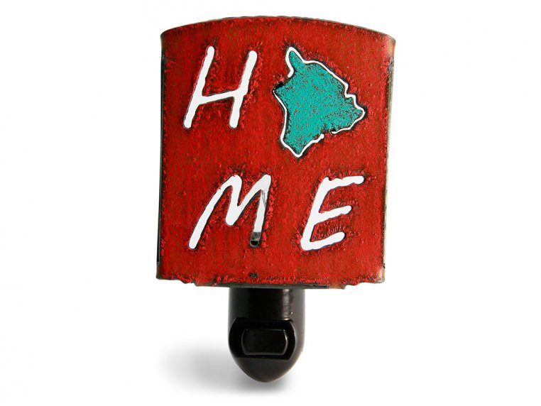 Reclaimed Metal Home State Night Light by Whimsies - 65