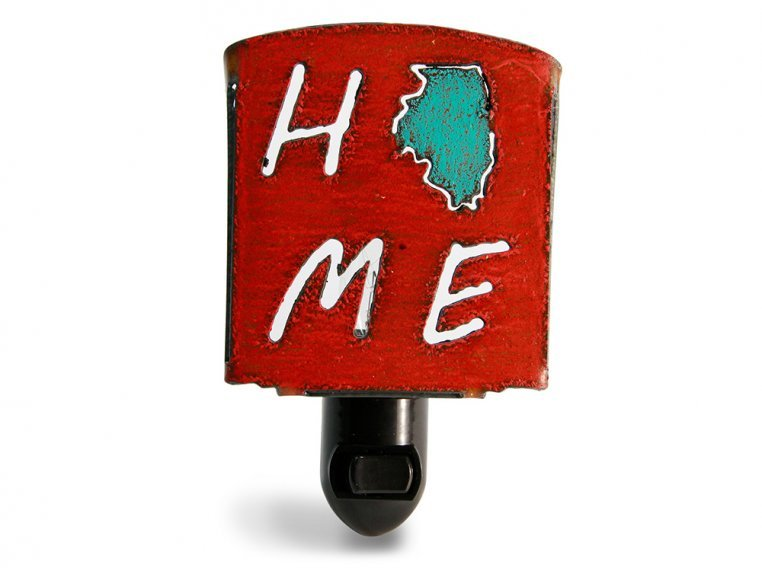 Reclaimed Metal Home State Night Light by Whimsies - 67
