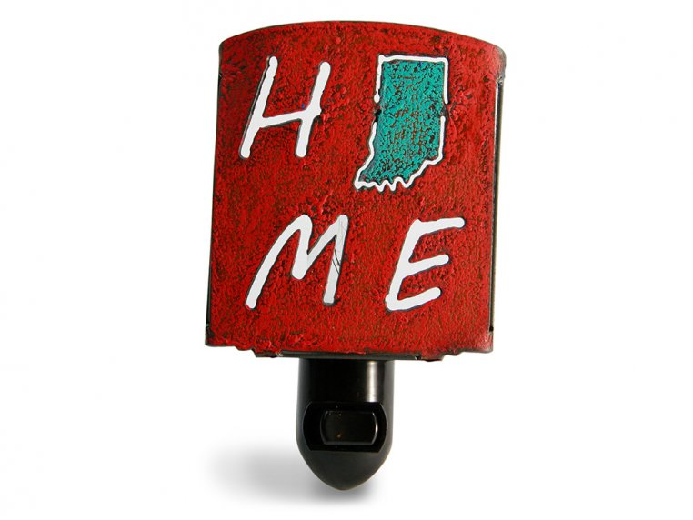 Reclaimed Metal Home State Night Light by Whimsies - 68