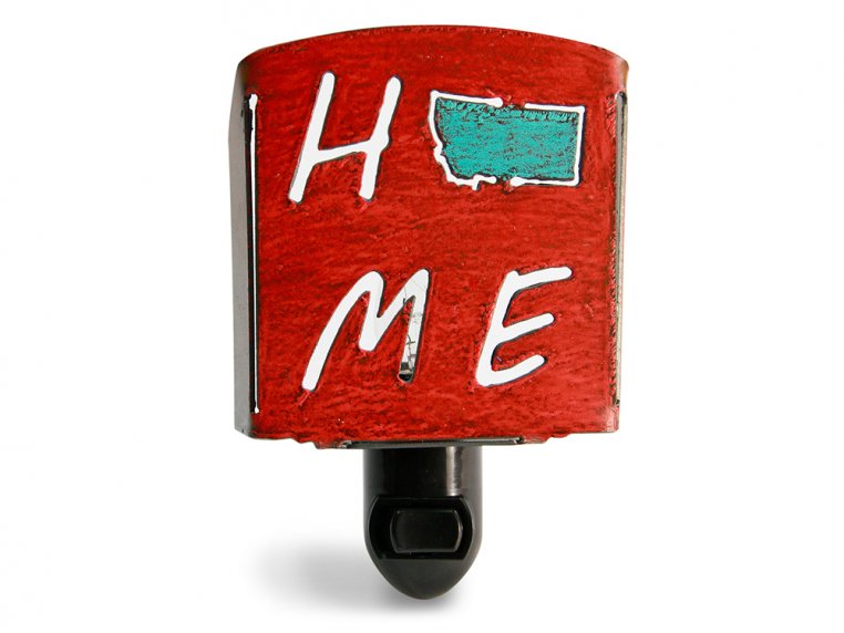 Reclaimed Metal Home State Night Light by Whimsies - 79