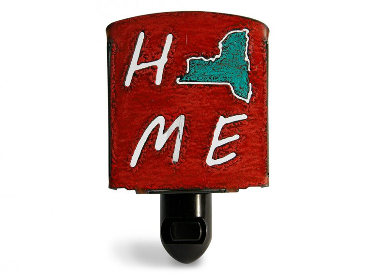 Reclaimed Metal Home State Night Light by Whimsies - 85