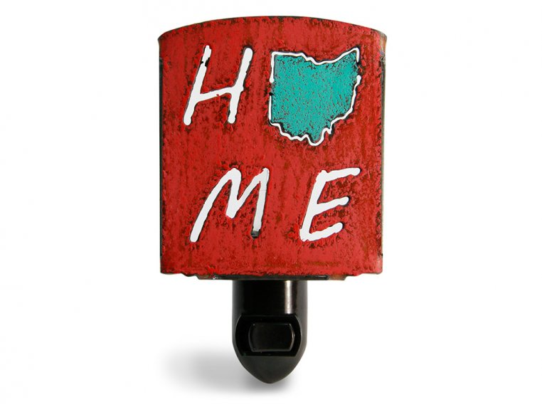 Reclaimed Metal Home State Night Light by Whimsies - 88