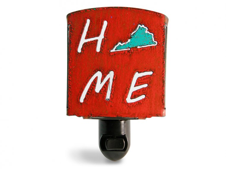 Reclaimed Metal Home State Night Light by Whimsies - 98