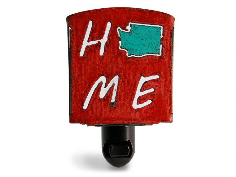 Reclaimed Metal Home State Night Light by Whimsies - 101