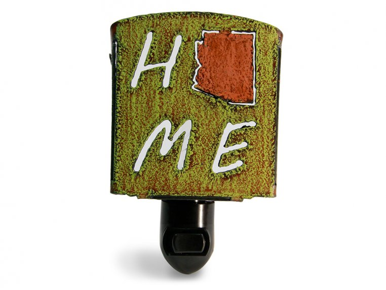 Reclaimed Metal Home State Night Light by Whimsies - 107