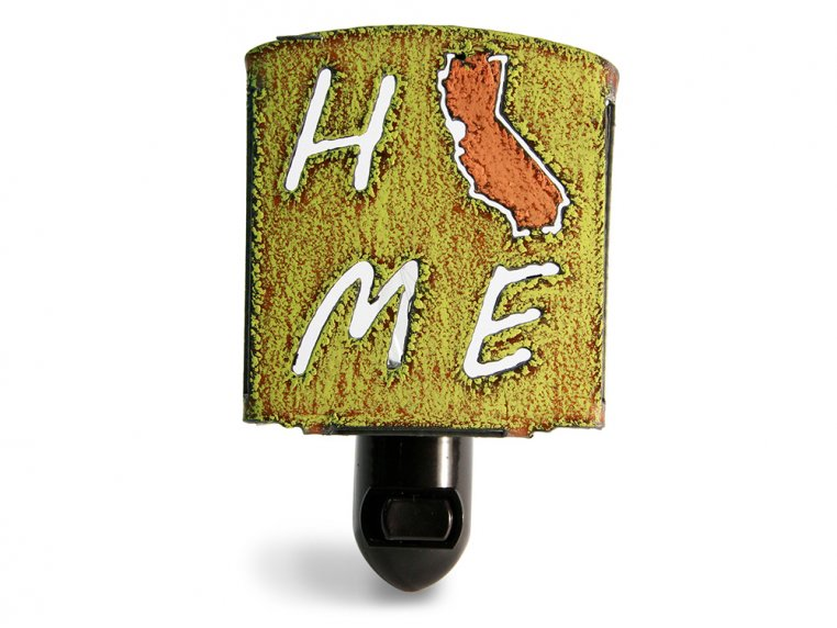 Reclaimed Metal Home State Night Light by Whimsies - 109