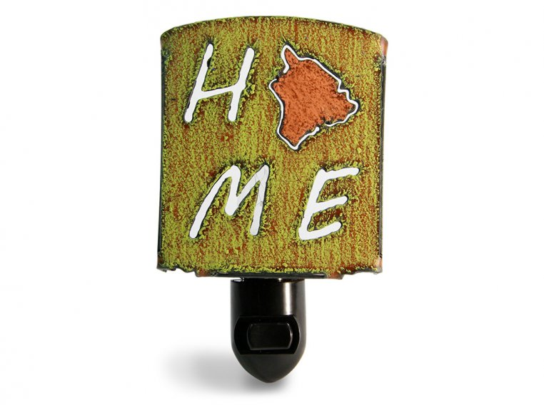Reclaimed Metal Home State Night Light by Whimsies - 115