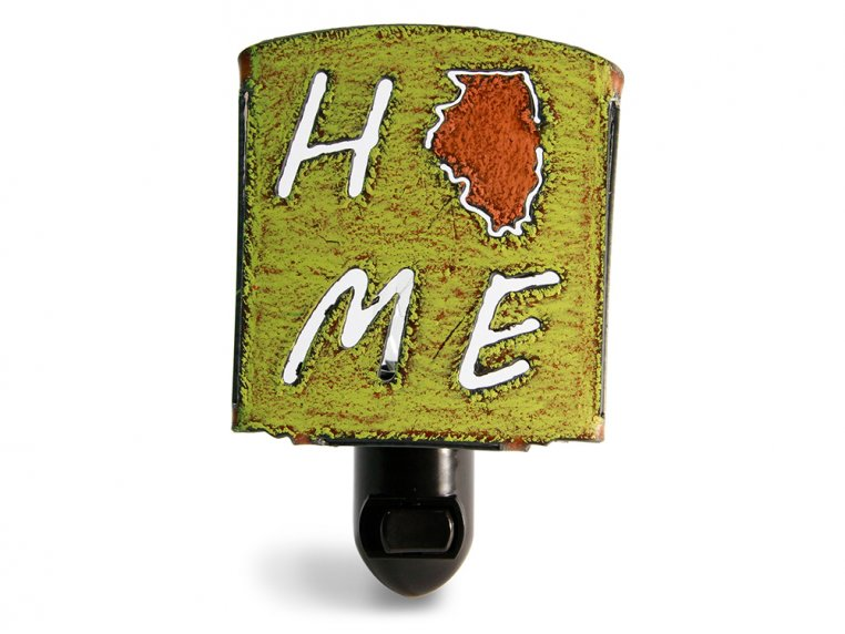 Reclaimed Metal Home State Night Light by Whimsies - 117