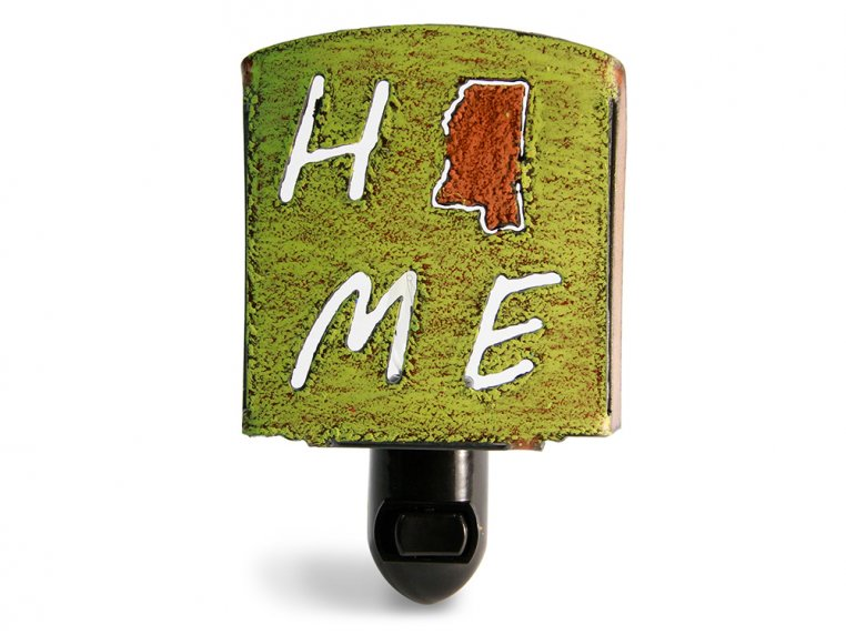 Reclaimed Metal Home State Night Light by Whimsies - 128