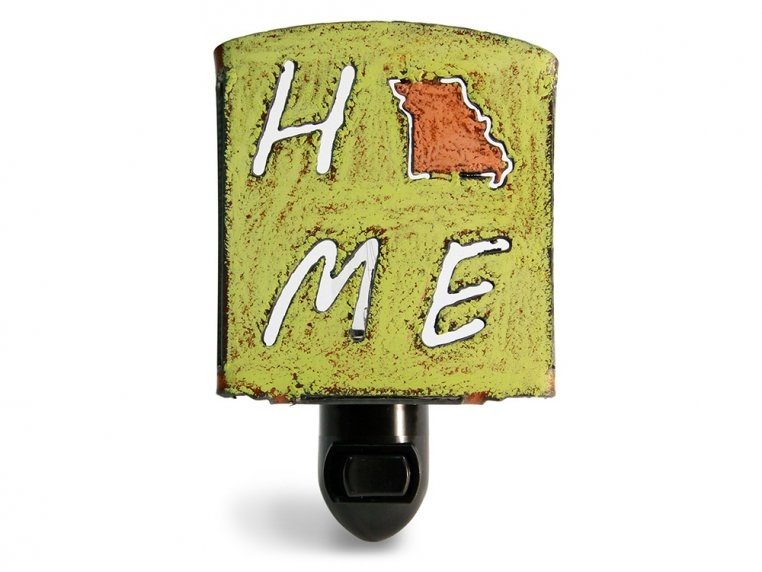 Reclaimed Metal Home State Night Light by Whimsies - 129