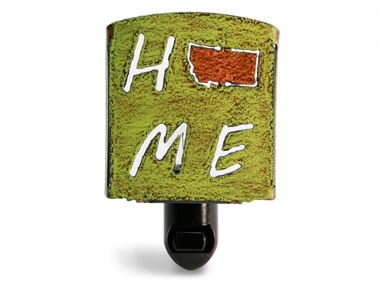 Reclaimed Metal Home State Night Light by Whimsies - 130