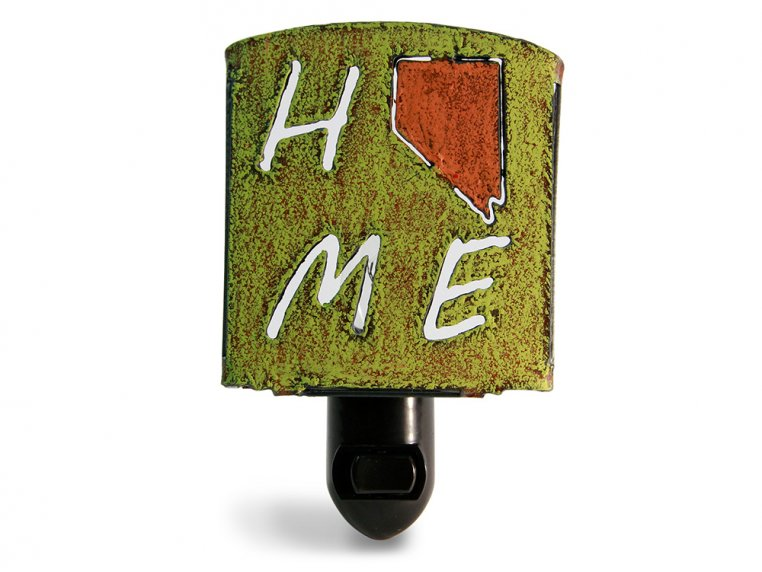 Reclaimed Metal Home State Night Light by Whimsies - 132