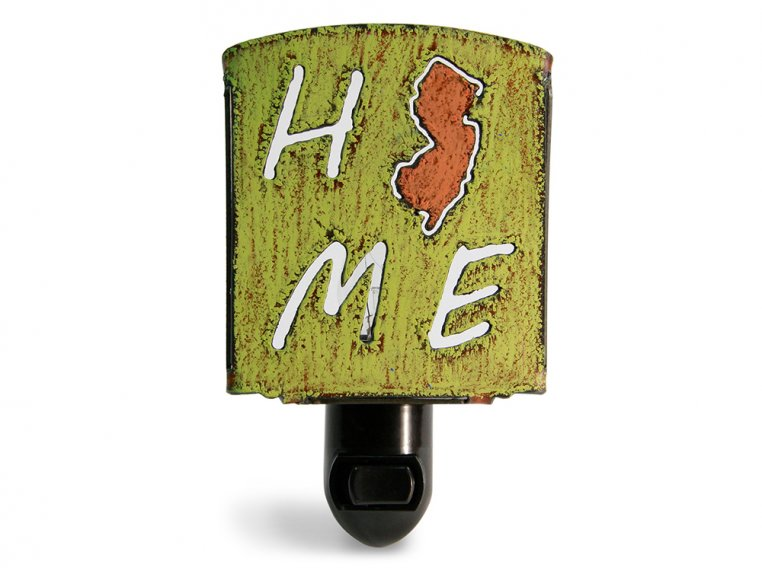 Reclaimed Metal Home State Night Light by Whimsies - 134