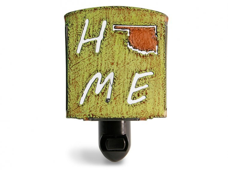 Reclaimed Metal Home State Night Light by Whimsies - 140