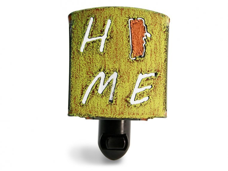 Reclaimed Metal Home State Night Light by Whimsies - 143