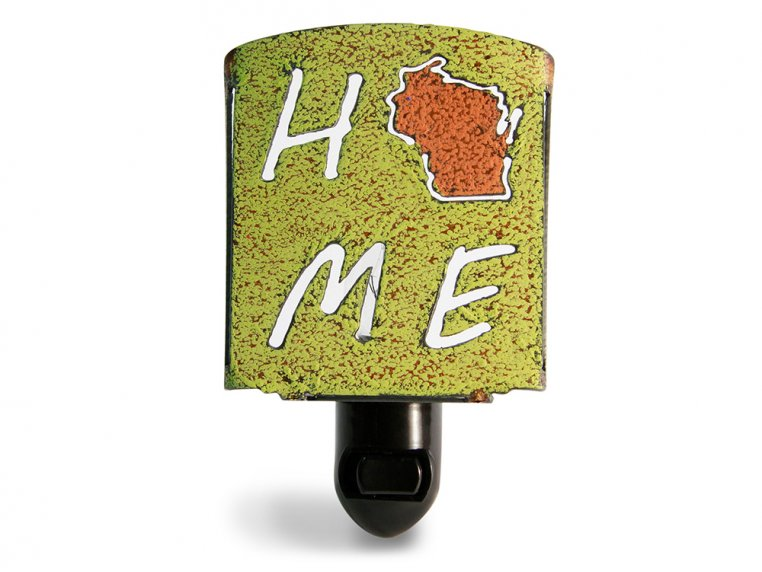 Reclaimed Metal Home State Night Light by Whimsies - 153