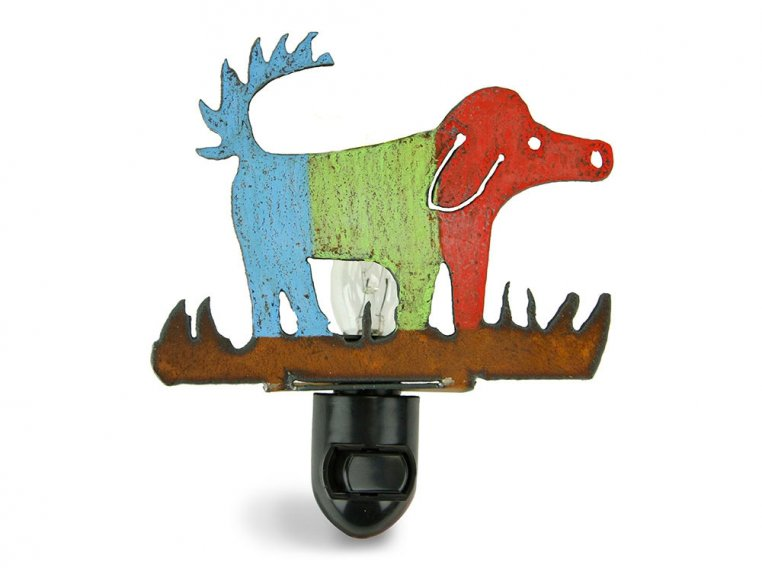 Reclaimed Metal Animal Night Light by Whimsies - 5