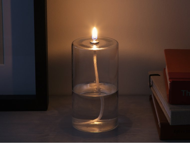 Pillar Glass Oil Candle by Firefly Fuel - 2