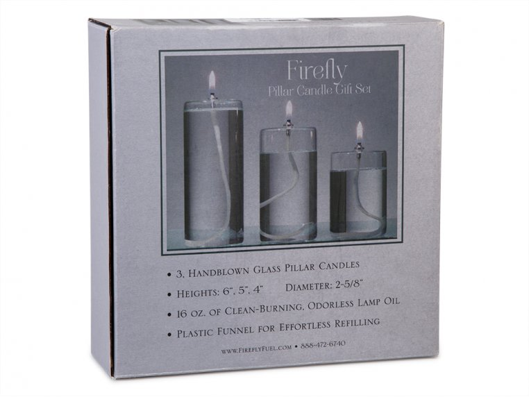 Pillar Glass Oil Candle by Firefly Fuel - 4
