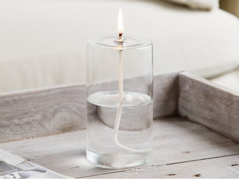 Pillar Glass Oil Candle by Firefly Fuel - 1