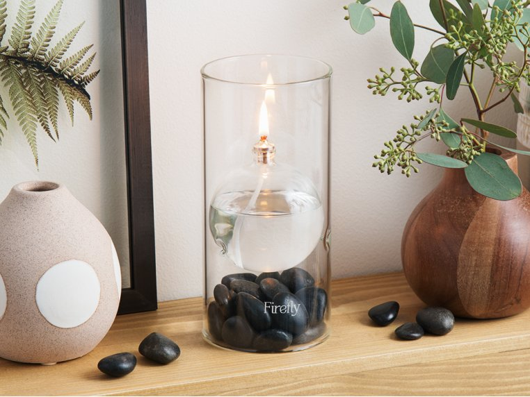 Transcend Glass Oil Lamp by Firefly Fuel - 2