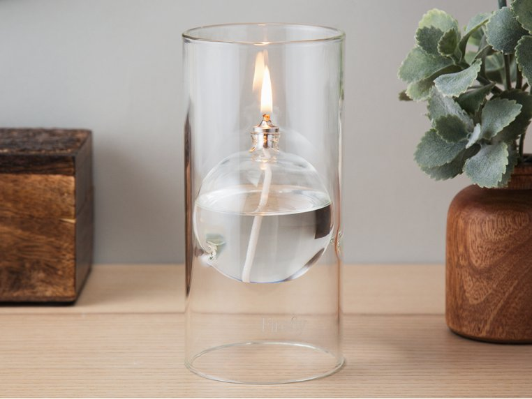 Transcend Glass Oil Lamp by Firefly Fuel - 1