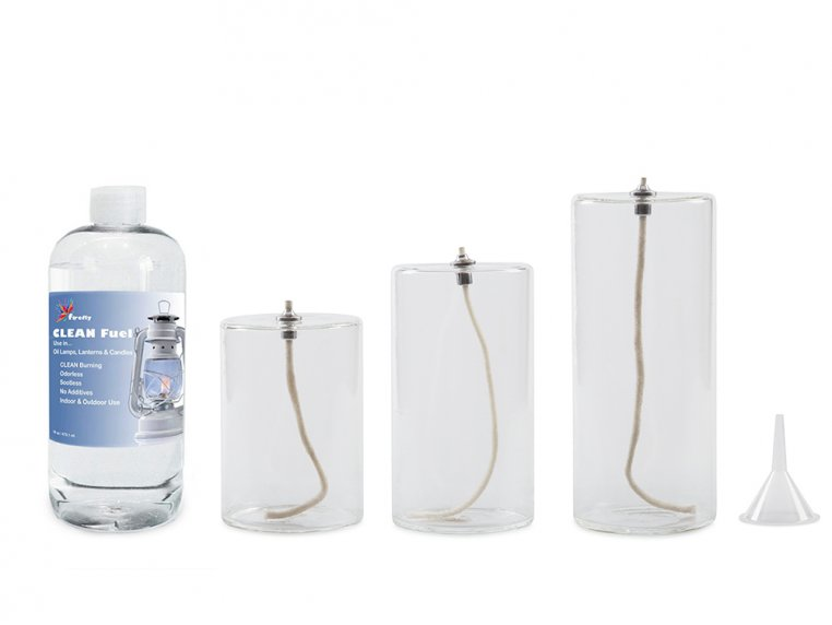 Pillar Glass Oil Candle by Firefly Fuel - 8
