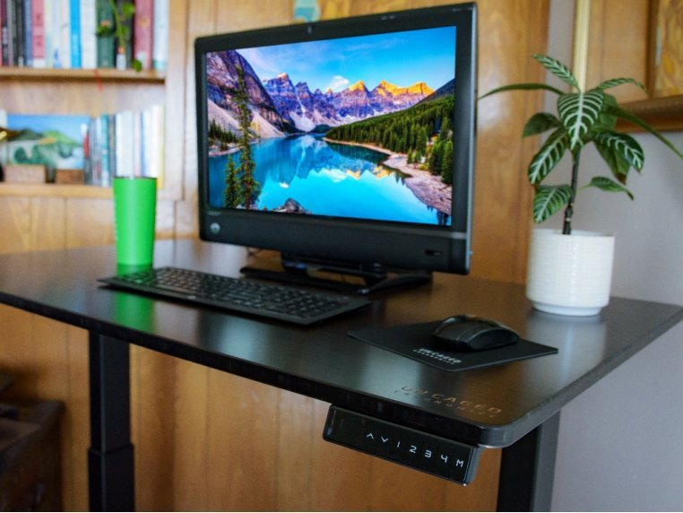 Electric Bamboo Standing Desk by Uncaged Ergonomics - 2