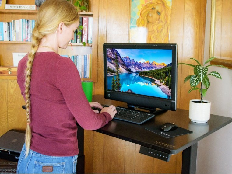 Electric Bamboo Standing Desk by Uncaged Ergonomics - 3